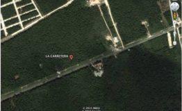 Terreno comercial-La Carretera-tulum-Venta- Vista aerea terreno