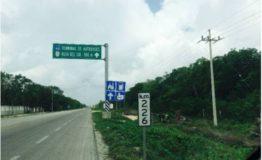 Terreno comercial-La Carretera-tulum-Venta- Vista terreno y carretera