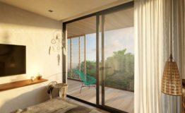 Depto- Tuk Tulum-Venta -Recamara Vista al balcon