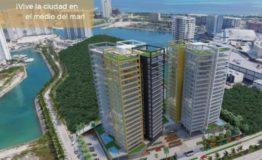 Depto-X towers Cancun-Venta- Vista aerea edificio