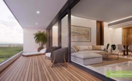 Departamento en venta Woha Puerto Cancun terraza