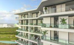 Depto-Blume Boutique Condos-Puerto Cancun -Venta-Vista de balcones
