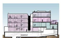 Departamento en Venta- Frontera 137 - Col Roma CDMX- Plano Corte Esquematico