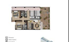 Departamento en Venta- Frontera 137 - Col Roma CDMX- Tipo de Depto C 123 m