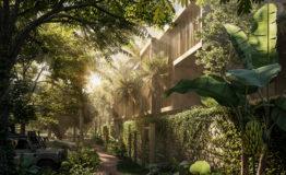 Departamento en venta La Reserva Tulum vista jardin
